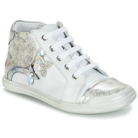 Shoes Girl Mid boots GBB SATYA White / Silver