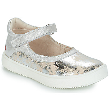 Shoes Girl Ballerinas GBB SAKURA Silver / Beige