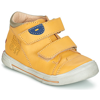 Shoes Boy Mid boots GBB SAMY Vte / Yellow / Snow