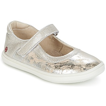Shoes Girl Ballerinas GBB PLACIDA Vte / Silver-beige / Cuba