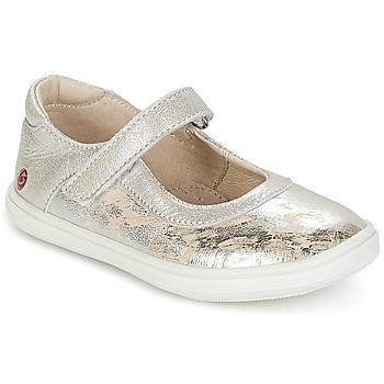 Shoes Girl Ballerinas GBB PLACIDA Beige / Silver