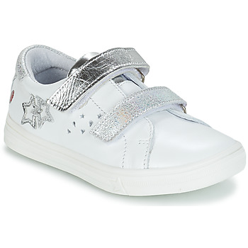 Shoes Girl Boots GBB SANDRA White / Silver