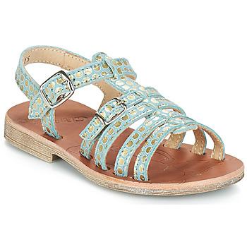 Shoes Girl Sandals GBB BANGKOK Vte / Blue / Gold