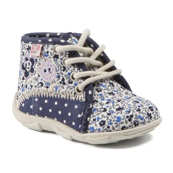 Shoes Girl Slippers GBB PAT Navy flouwer