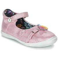 Shoes Girl Sandals Catimini SITELLE Pink / Silver