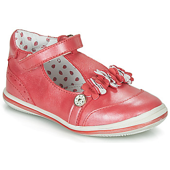Shoes Girl Ballerinas Catimini SANTOLINE Vte / Red / Mother-of-pearl