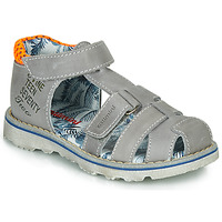 Shoes Boy Sandals Catimini SYCOMORE Grey / Orange