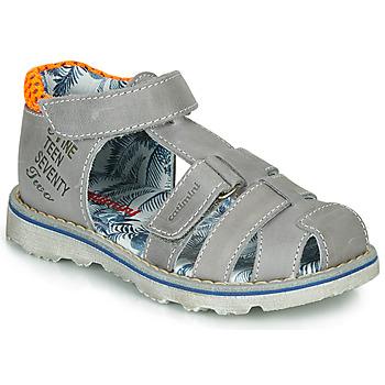 Shoes Boy Sandals Catimini SYCOMORE Grey / Orange