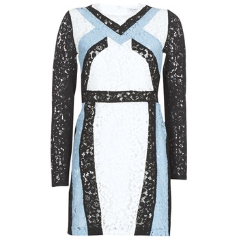 material Women Short Dresses Morgan RLIXI White / Black / Blue