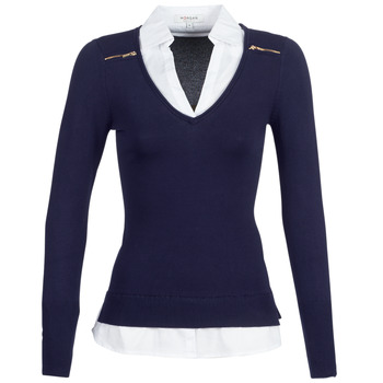 material Women jumpers Morgan MYLORD Blue / White