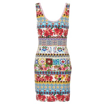 material Women Short Dresses Desigual OCONDE Multicolour