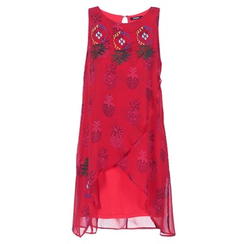 material Women Short Dresses Desigual DORIJE Red
