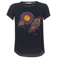 material Women short-sleeved t-shirts Desigual NAIKLE Black