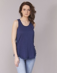 material Women Tops / Sleeveless T-shirts Kaporal LANA Marine