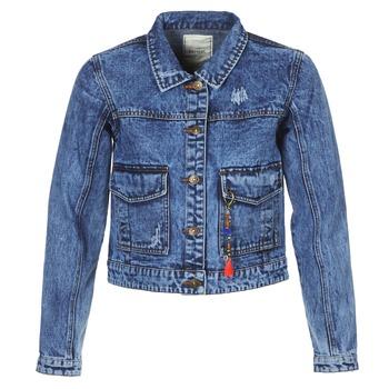 material Women Denim jackets Kaporal BUCHE Blue