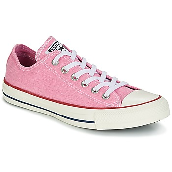 Shoes Women Low top trainers Converse Chuck Taylor All Star Ox Stone Wash Pink