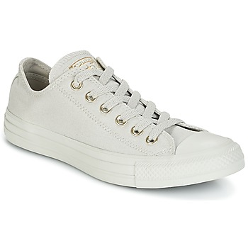 Shoes Women Low top trainers Converse Chuck Taylor All Star Ox Mono Glam Canvas Color Grey