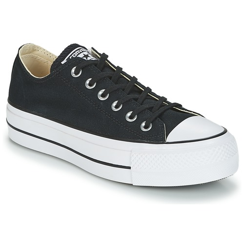 9e3356d82db Shoes Women Low top trainers Converse Chuck Taylor All Star Lift Clean Ox  Core Canvas Black