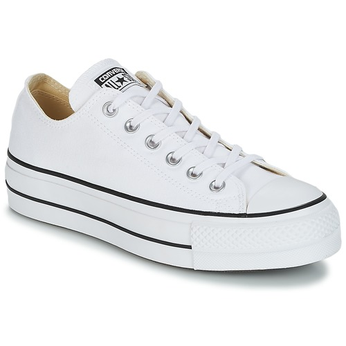 Converse Chuck Taylor All Star Lift Ox Black White Women Canvas Low Top Trainers