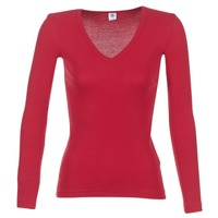 material Women Long sleeved shirts Petit Bateau  Red