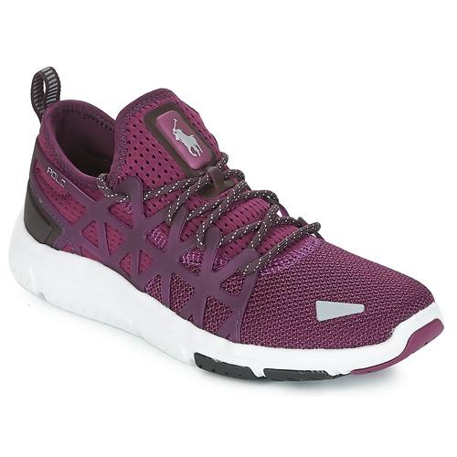 Shoes Women Low top trainers Polo Ralph Lauren TRAIN 200 Violet