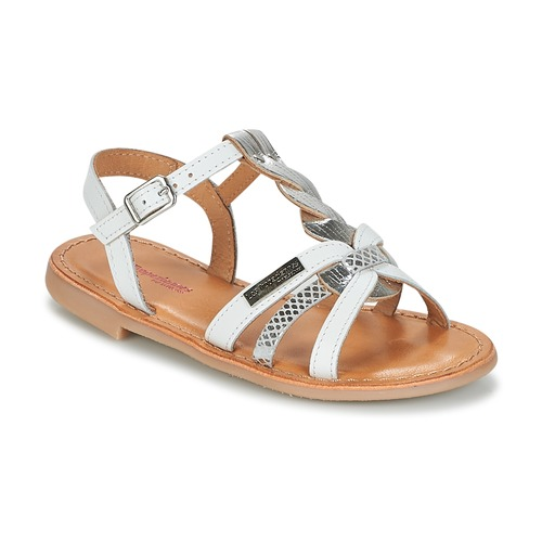 Shoes Girl Sandals Les Tropéziennes par M Belarbi BADAMI White / Silver