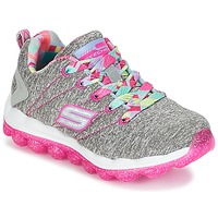 Shoes Girl Low top trainers Skechers SKECH-AIR Grey / Pink