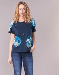 material Women short-sleeved t-shirts Derhy BANGKOK Marine