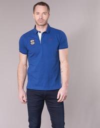 material Men short-sleeved polo shirts Serge Blanco DOSSART 15 Blue