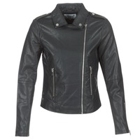 material Women Leather jackets / Imitation leather Vila VICARA Black