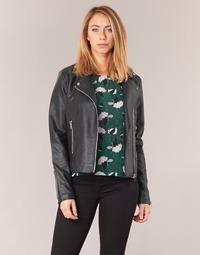 material Women Leather jackets / Imitation leather Vila VICARA Black