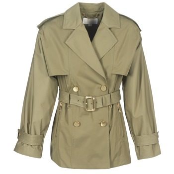 material Women Trench coats MICHAEL Michael Kors SHRT WIDE TRENCH Kaki