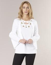 material Women Blouses MICHAEL Michael Kors POPLIN GRMT LCE UP T. White
