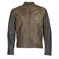 material Men Leather jackets / Imitation leather Pepe jeans VINCENT Kaki / Black