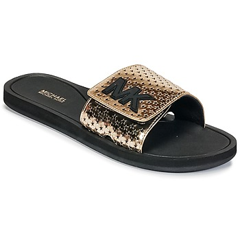Shoes Women Tap-dancing MICHAEL Michael Kors MK SLIDE Black / Gold