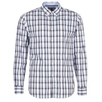 material Men long-sleeved shirts Tommy Hilfiger SUNLAND-CHK-RF3 White / Blue