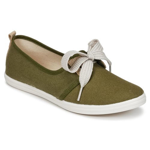 Shoes Women Low top trainers Yurban SOURITE Kaki / Gold