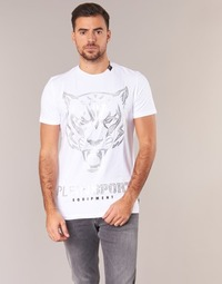 material Men short-sleeved t-shirts Philipp Plein Sport EDBERG White / Silver