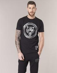 material Men short-sleeved t-shirts Philipp Plein Sport IVAN Black / Silver