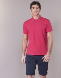 material Men short-sleeved polo shirts Gant CONTRAST COLLAR PIQUE RUGGER Pink