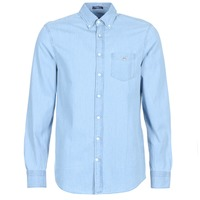 material Men long-sleeved shirts Gant THE INDIGO REG Blue