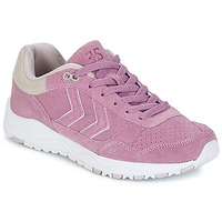 Shoes Women Low top trainers Hummel 3-S SUEDE Lavender