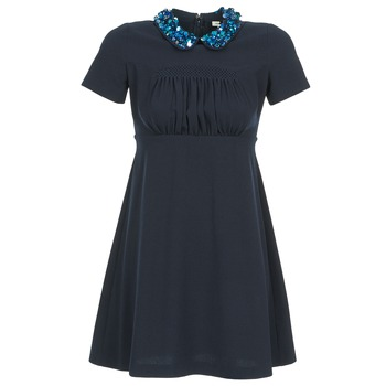 material Women Short Dresses Manoush COMMUNION Blue