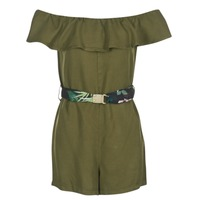 material Women Short Dresses Guess RESPUNNI Kaki