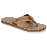 Shoes Men Flip flops Reef LEATHER SMOOTHY Bronze / Brown