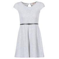 material Women Short Dresses Moony Mood IKIMI White / Marine