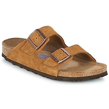 Shoes Women Mules Birkenstock ARIZONA SFB Brown