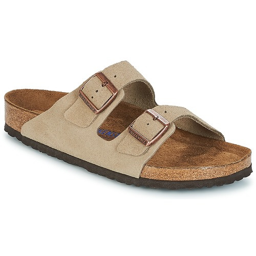 Shoes Men Mules Birkenstock ARIZONA SFB Taupe