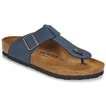 Shoes Men Flip flops Birkenstock MEDINA Nubuck / Navy