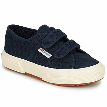 Shoes Children Low top trainers Superga 2750 STRAP MARINE